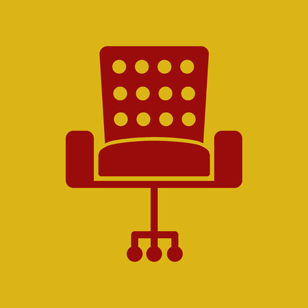 flat icon office chair