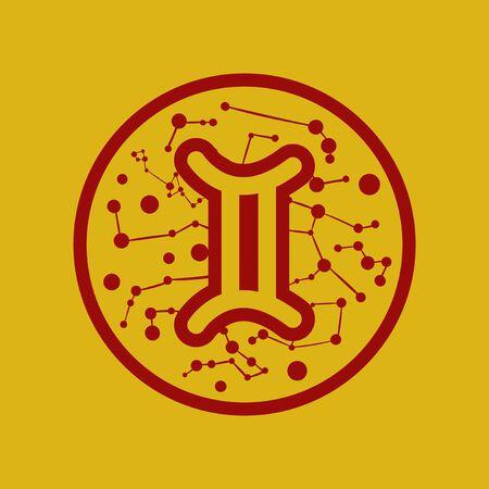 flat icon Zodiac sign Gemini