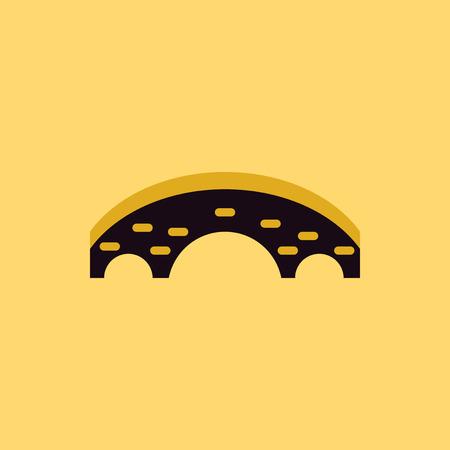 keystone: Brick Bridge Arch Architecture Building Monument vector illustration