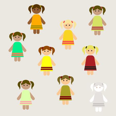 little girls, kids, cute girls set poster background