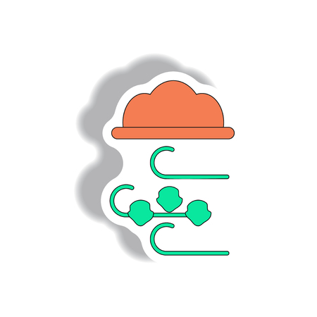 hailstone: hail and wind, cloud sticker