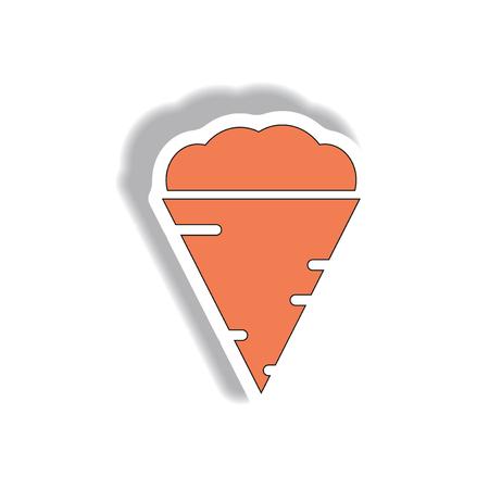 Vector illustration in paper sticker design Tornado Illustration