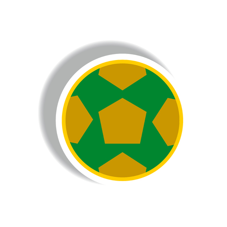 penalty: stylish icon in paper sticker style soccer ball Illustration
