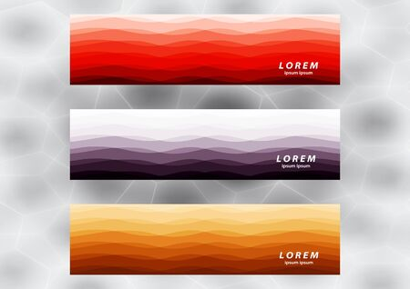 range of motion: smooth wavy lines, abstract wave banner template collection