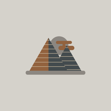 khafre: Egypt pyramids and sun Illustration