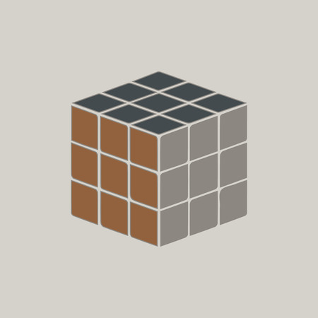 Cube toy puzzle Illustration