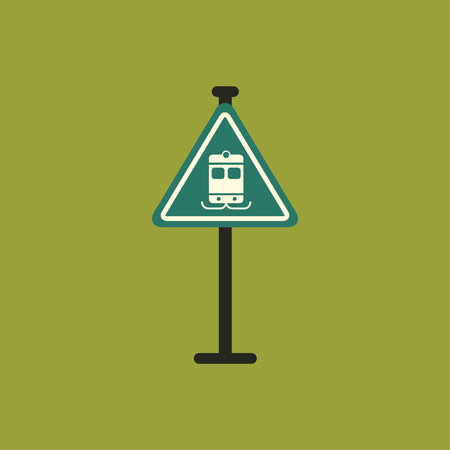 electric train: Tram traffic sign