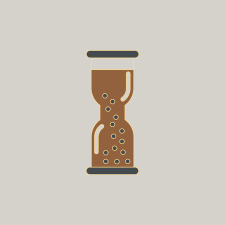 Hourglass with water, watch Illustration