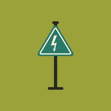 Danger high voltage road sign