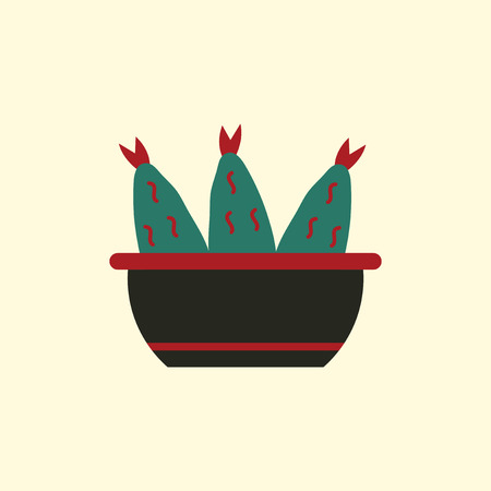 Cooking fish soup icon. Vector Flat illustration