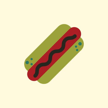 Hot dog Icon Illustration