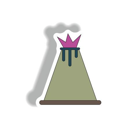 volcano sticker Illustration
