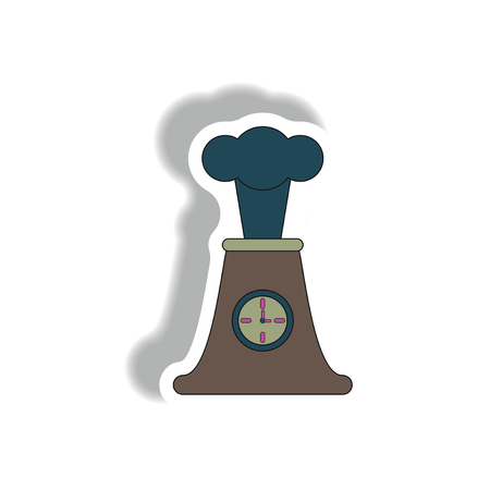 volcano mountain top exploding: Volcano and timer, volcano explosion and clock, sleeping volcano