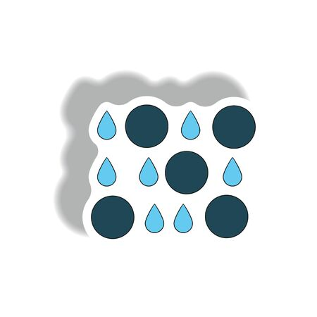 dust cloud: rain with volcanic elements. weather sticker