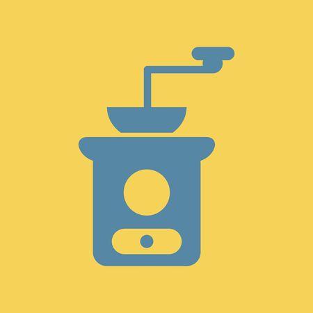 Illustration retro coffee grinder.
