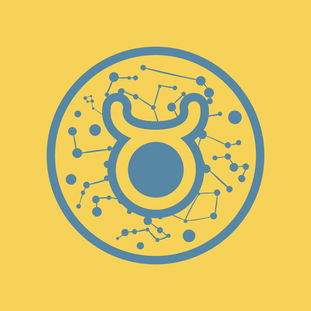 flat icon zodiac sign Taurus Illustration