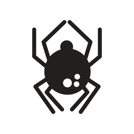 latrodectus: flat icon in black and white  style spider insect Illustration