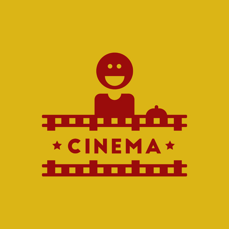 Cinema Ticket Office Vector illustration in flat style Seller sells tickets to cinema