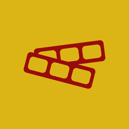 Movie tickets Vector illustration in flat style cinema blank ticket
