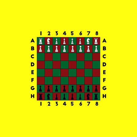 chess rook: chess game start Illustration
