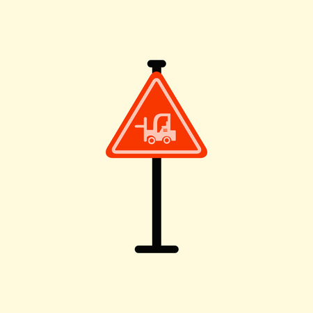 heavy risk: forklift in operation road sign