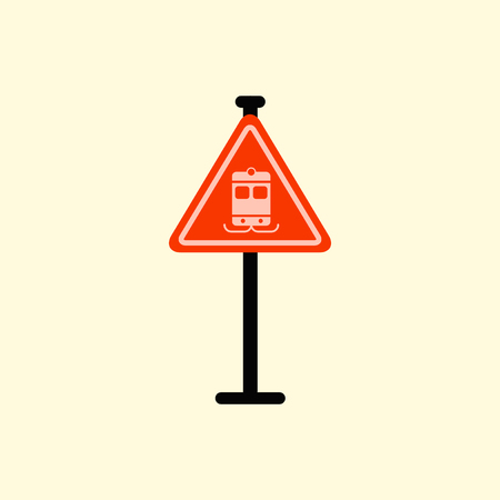 electric train: tram traffic sign Illustration