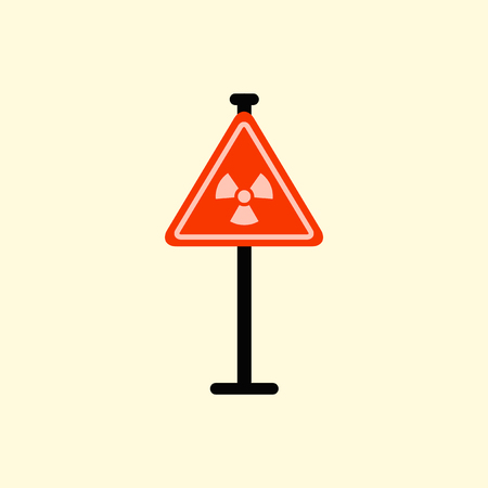 emanation: road sign with an radioactive symbol