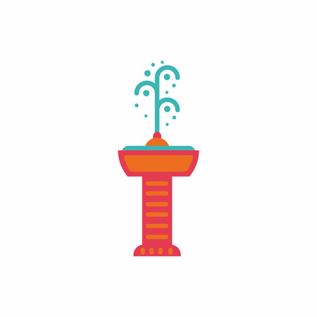 Fountain with drinking water. Vector icon. park fountain