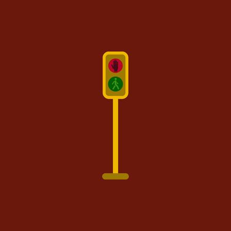 Pedestrian traffic lights Illustration