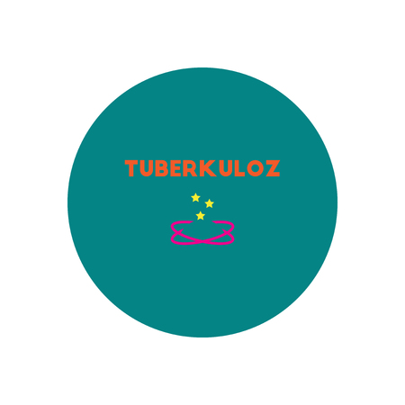 Vector icon  on  circle various symptoms of Tuberculosis on the human Illustration