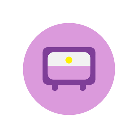 Vector icon on the white backgrounds in circles tv