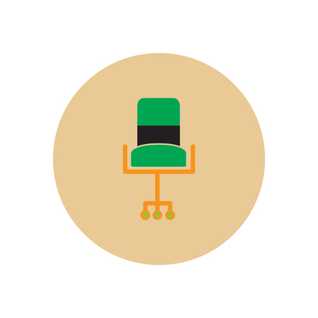 stylish icon in  circle fashion office chair