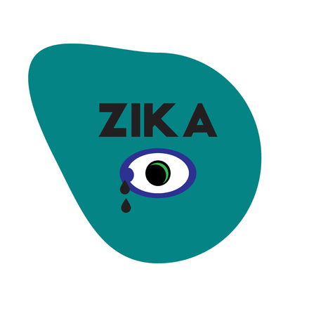 Vector icon  on  circle various symptoms of Zika on the human Illustration