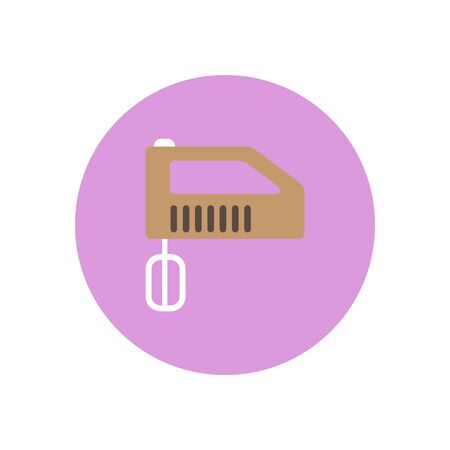 black appliances: Vector icon on the white backgrounds in circles mixer Illustration