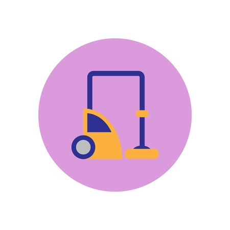Vector icon on the white backgrounds in circles a vacuum cleaner