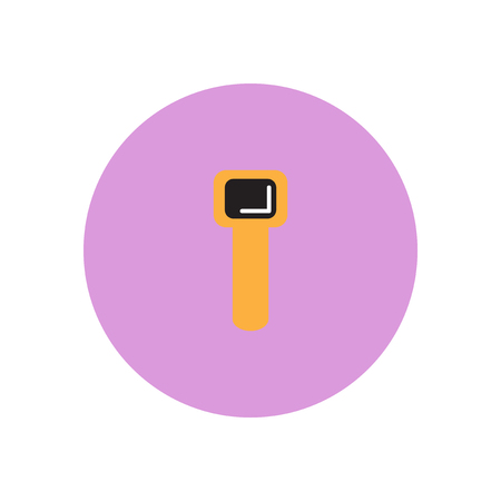 Vector icon on the white backgrounds in circles hand clock