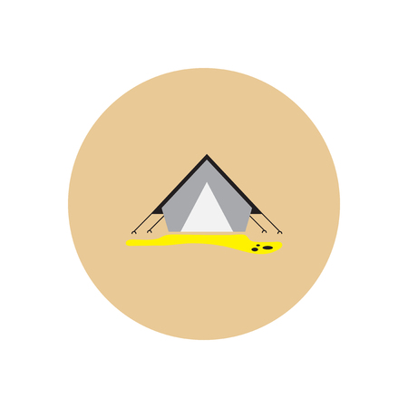 Stylish icon in  circle camp tourist tent