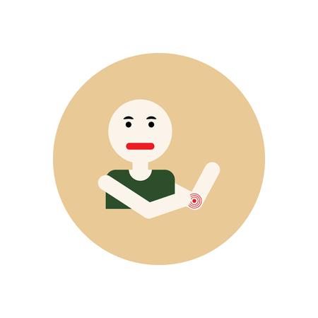 Stylish icon in color  circle man joint pain Illusztráció
