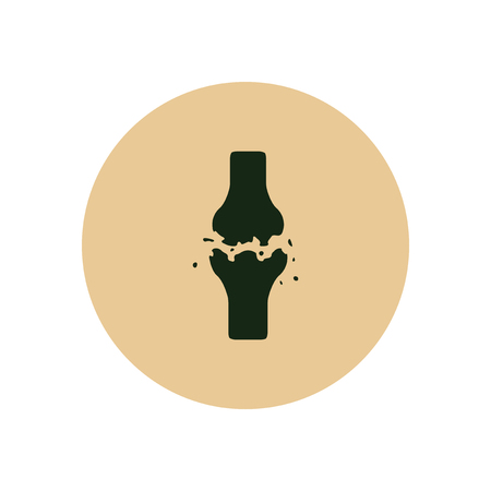 osteo: Stylish icon in color  circle bone fracture