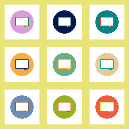 briefing: Collection of stylish vector icons in colorful circles Business interactive whiteboard