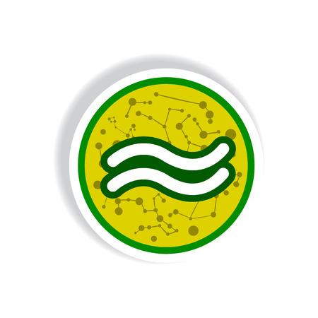 stylish icon in paper sticker style zodiac Aquarius Illustration