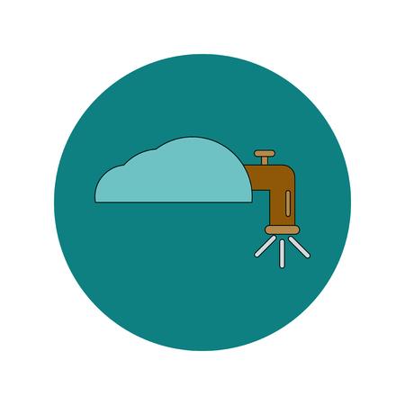 Vector illustration in flat design of water crane
