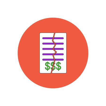 Vektor-Illustration im flachen Design, den Vertrag kündigen Vektorgrafik