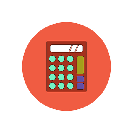 time account: Vector illustration in flat design of calculator