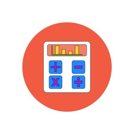 Vector illustration in flat design of calculator