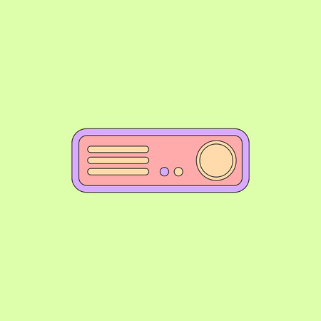 home Theater Vector illustration in flat style Home cinema