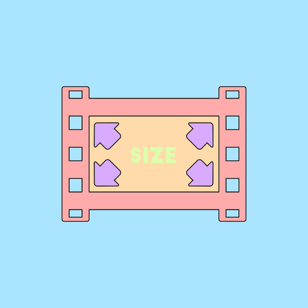 old photograph: movie frame Vector illustration in flat style film strip size