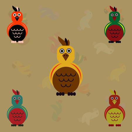 Cockatoo set, Parrots collection Illustration
