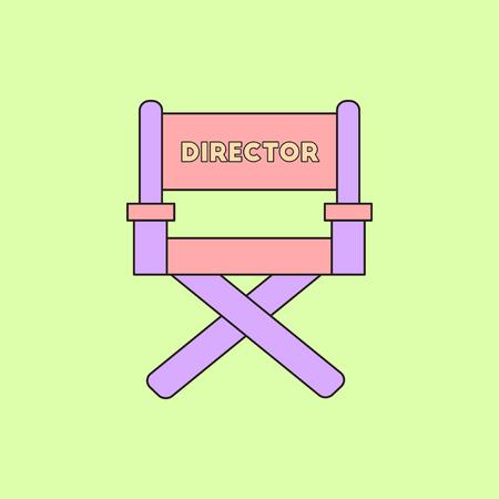bioscoop producent stoel Vectorillustratie in vlakke stijl Regisseur stoel Stock Illustratie