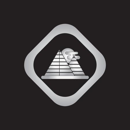 Egypt pyramids and sun Illustration